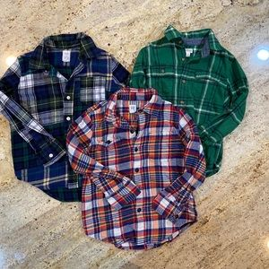 Lot of boys flannel shirts